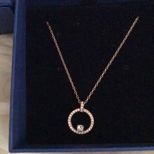 Swarovski Rose gold pendant (and chain)